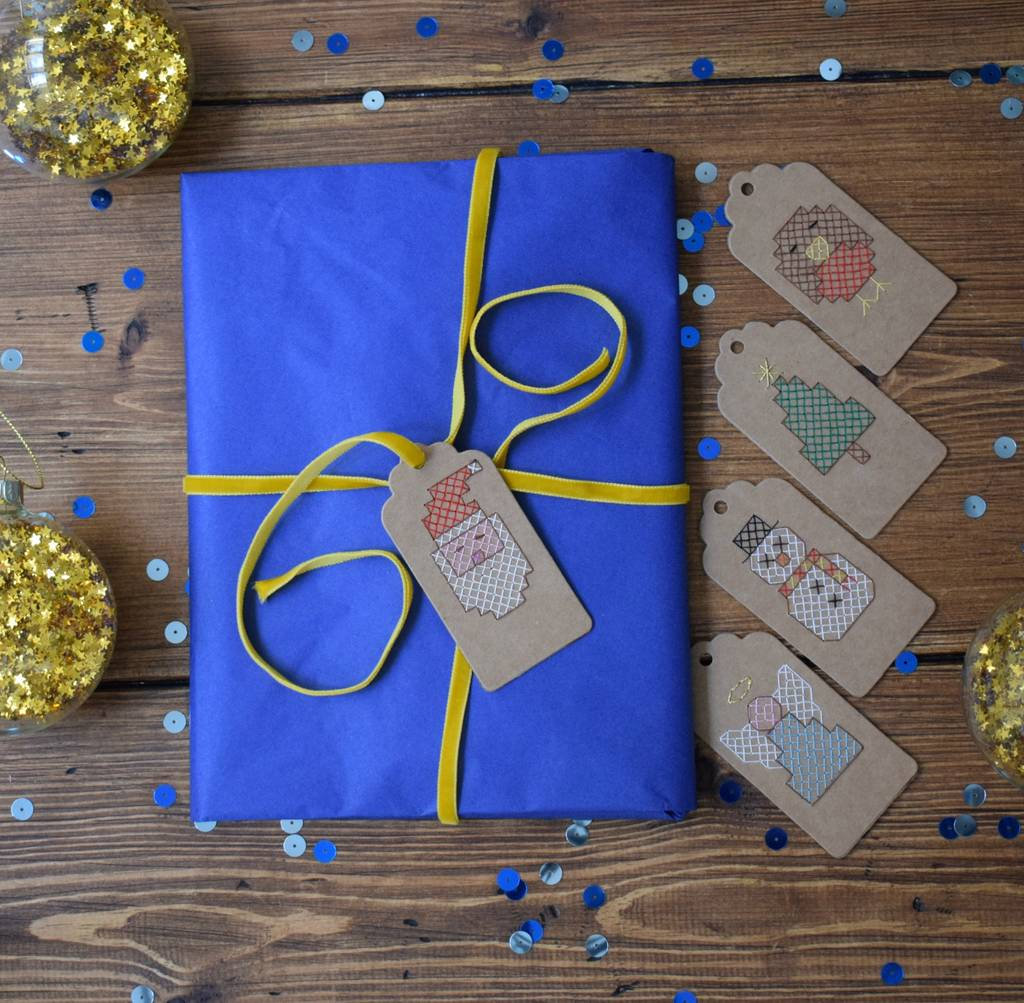 Making your own christmas gift tags