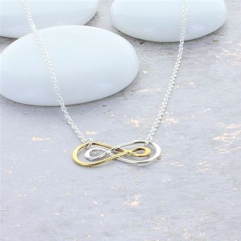 Infinity Double Ring Necklace