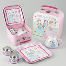 Princess Tin Tea Set In A Suitcase