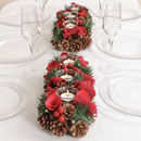 Winter Roses And Berry Christmas Tealights Centrepiece