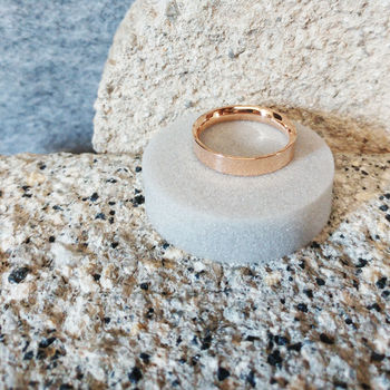 Rose Gold Flat Court Wedding Ring In Fairtrade Gold