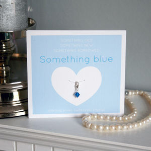 Something Blue Sterling Silver Charm