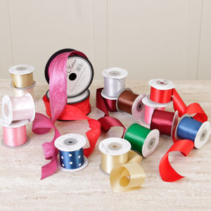 Luxury Satin Christmas Gift Ribbon Collection - ribbon & wrap
