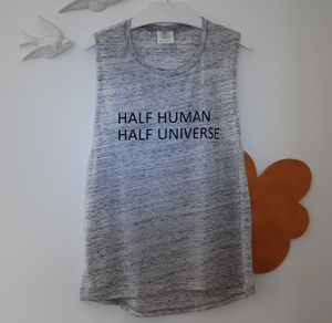 'Half Human Half Universe' T Shirt - women's fashion