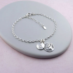Tree Of Life Personalised Bracelet - bracelets & bangles