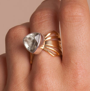 Chunky Folded Wing Ring - women's jewellery