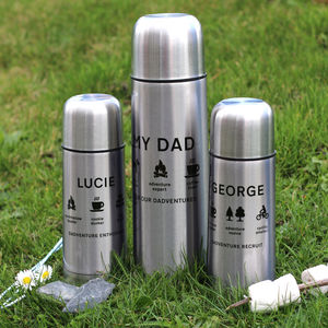 Personalised Adventure Flask Set - 40th birthday gifts