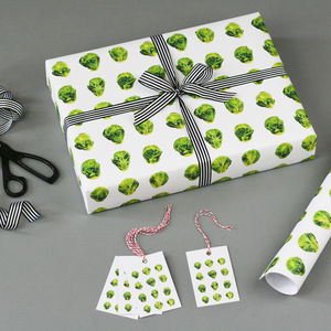 Brussels Sprout Christmas Wrapping Paper - wrapping