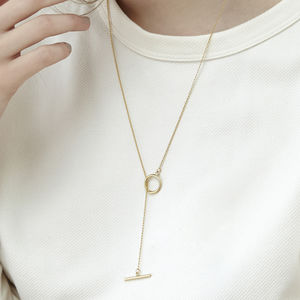 Isla Gold Toggle Necklace - necklaces & pendants