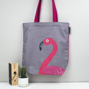Flamingo Tropical Bird Tote Bag - shopper bags