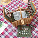 Aurielle Personalised Wicker Picnic Basket For Two