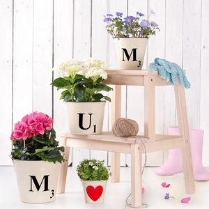 Mums Letter Tile Buckets - personalised mother's day gifts