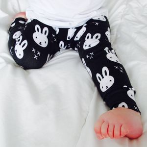 Unisex Monochrome Bunny Leggings