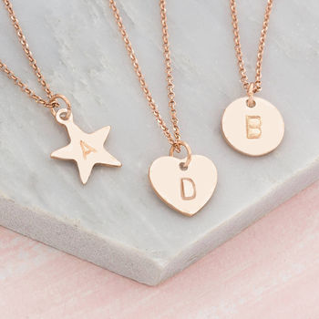 Personalised Hand Stamped Charm Pendant Necklace