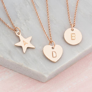 Personalised Hand Stamped Charm Pendant Necklace - birthstone jewellery gifts