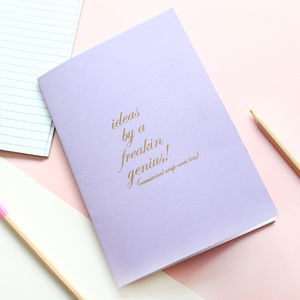 Ideas By A Freakin Genius Notebook