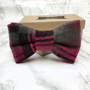 Leman Plaid Dog Bow Tie - dogs