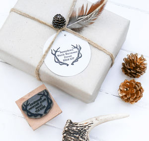 Address Stamp With Antlers