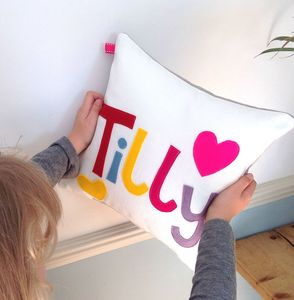 Personalised Heart Cushion - children's room