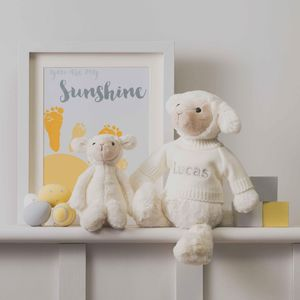 Personalised Bashful Lamb Soft Toy