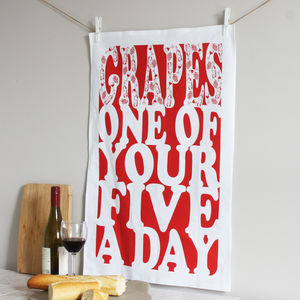 'Five A Day' Tea Towel
