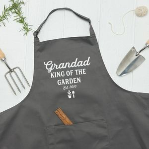 Personalised King Of The Garden Apron