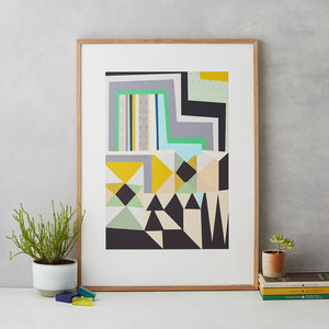 Modern Abstract Art Print - original art under £100
