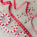 Christmas Candy Stripes, Stars And Pom Pom Ribbon