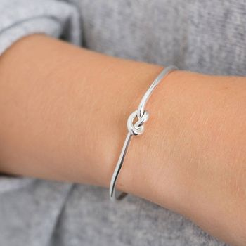 Silver Friendship Knot Bangle