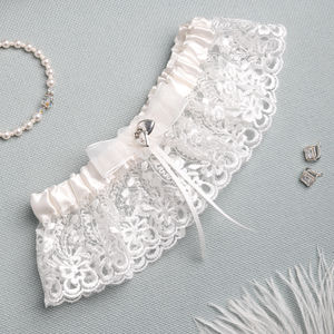 Bridal Garter Personalised - lingerie & nightwear