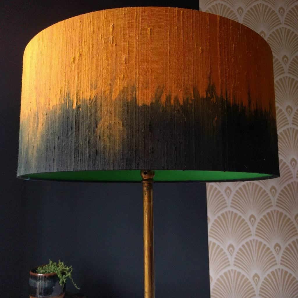 Silk dip dyed large drum lampshades by beauvamp notonthehighstreet silk dip dyed large drum lampshades aloadofball Image collections