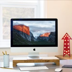 Personalised Solid Oak iMac Stand - technology accessories