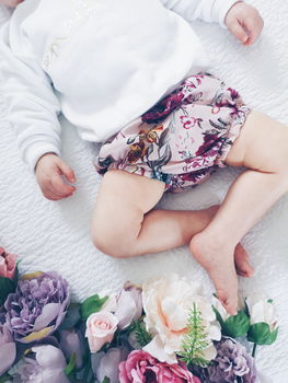 Pink Floral Baby And Toddler Bloomers
