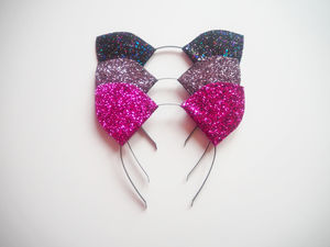 Sparkly Cat Ears Headband