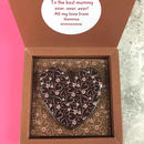Personalised Message Milk And Dark Chocolate Heart