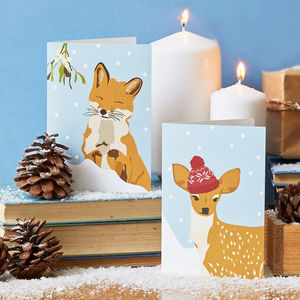 Forest Animals Christmas Cards - cards