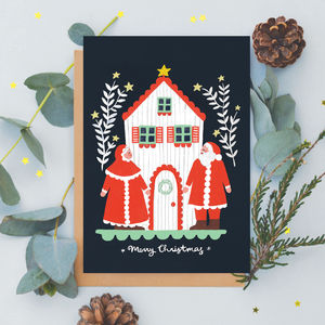 Mr And Mrs Claus Christmas Card - winter sale