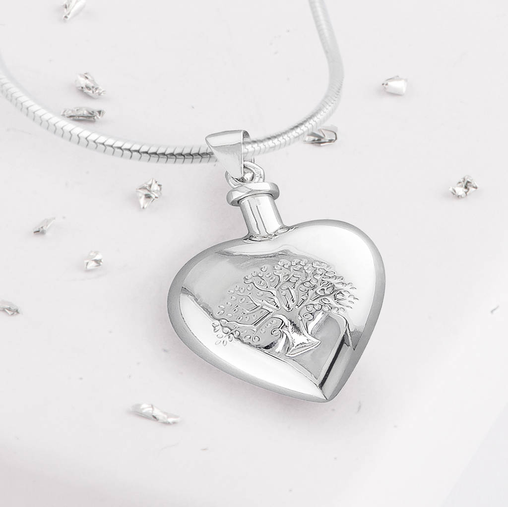 in ash carnation silver urn pendant the light urns memorial
