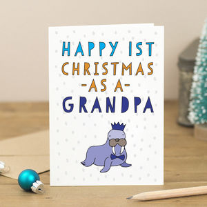 Personalised First Christmas As A…Walrus Card