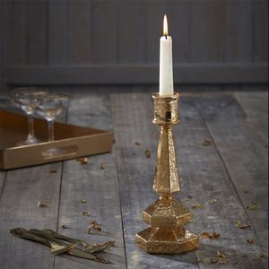 Gold Glass Candlestick - tableware