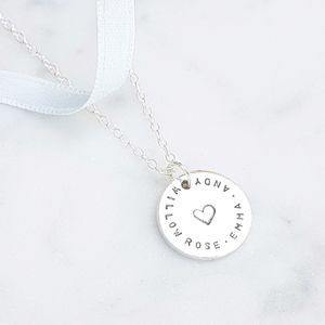 Personalised Love Coin Necklace