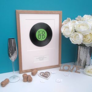Personalised Framed Vinyl Record Your Wedding Song - prints & art