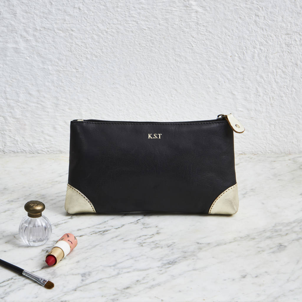 Handmade Leather Make Up Bag