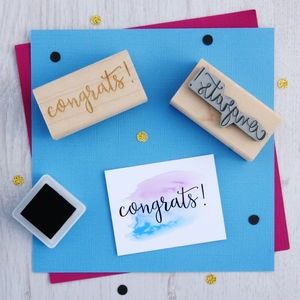 Congrats! Sentiment Rubber Stamp