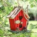Hill Top Heart Cabin Bird House