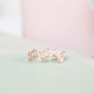 Personalised 9ct Rose Gold Floral Ring - rings