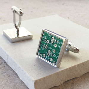 Genuine Circuit Board Cufflinks - men's accessories