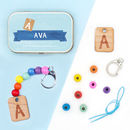 Personalised Letter Keyring Gift Kit