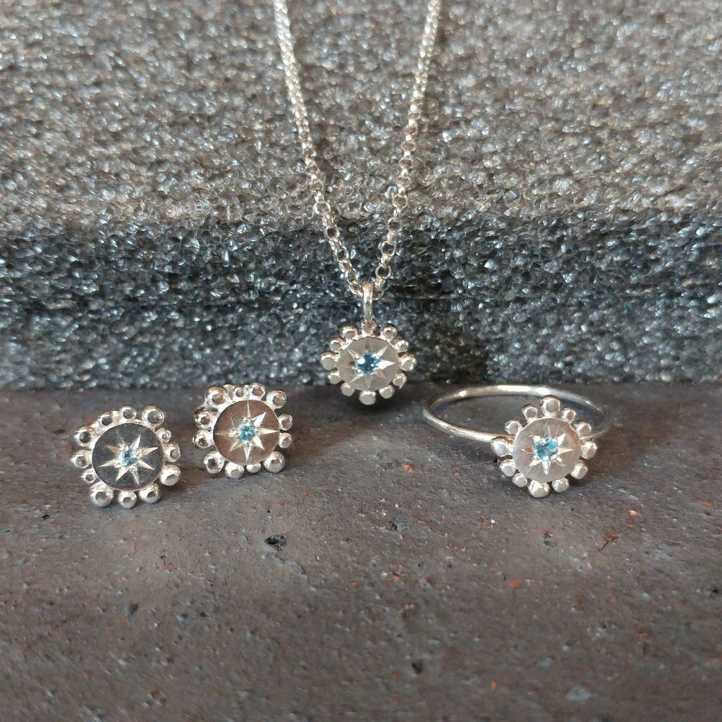 Silver Jewellery Set: Bobble And Twinkle
