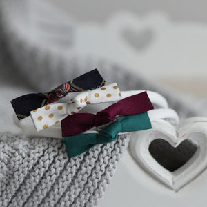 Christmas Cotton Bow Headband